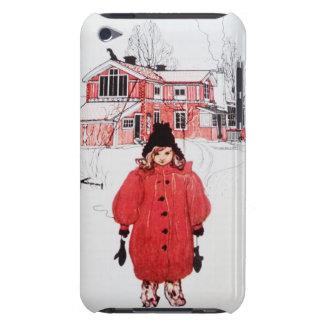 Colocación en nieve del invierno carcasa para iPod