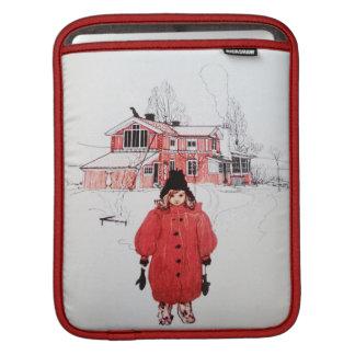 Colocación en nieve del invierno funda para iPads