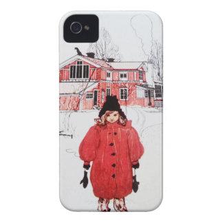 Colocación en nieve del invierno funda para iPhone 4 de Case-Mate
