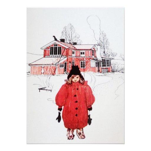 Colocación en nieve del invierno anuncios