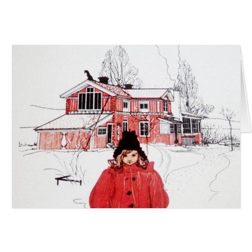 Colocación en nieve del invierno felicitacion