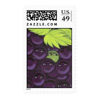 Colocación verde de la uva en sello