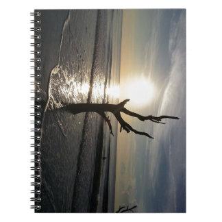 """""""Colocando solamente"""" el cuaderno espiral"""