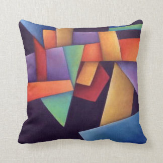 Coloful Abstract Throw Pillow