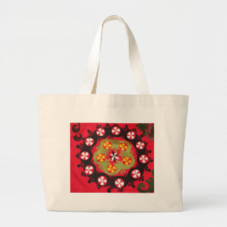 Coloful Antique Tribal  Turkish Textiles Large Tote Bag