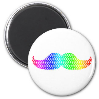 Coloful dotted Moustache Magnets