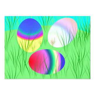 Coloful Easter eggs Card