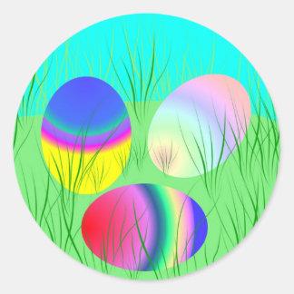 Coloful Easter eggs Classic Round Sticker