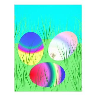 Coloful Easter eggs Letterhead Template