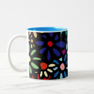 Coloful Flower Mug-Cup Two-Tone Coffee Mug