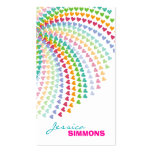 Coloful Fun Rainbow Hearts Sprinkles Profile Card Double-Sided Standard Business Cards (Pack Of 100)