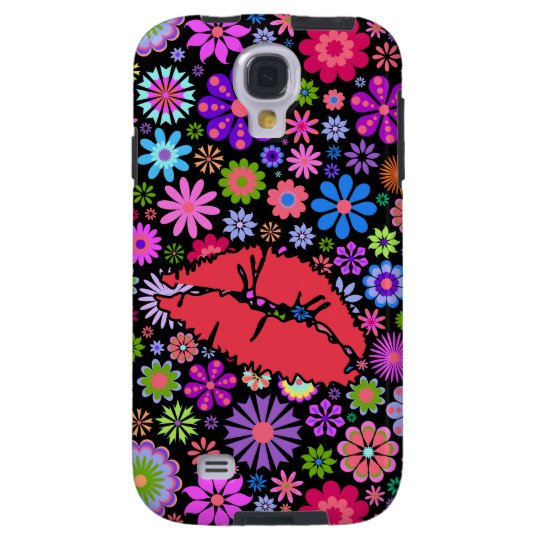 Coloful Spring Kiss Flowers Garden Samsung S4 Case