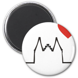 Cologne 2 Inch Round Magnet