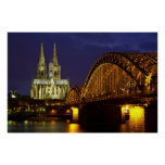 Cologne - Cathedral at twilight poster