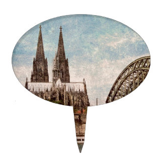 Cologne cathedral cake topper