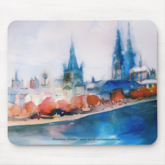 Cologne cathedral cologne cathedral watercolor mouse pad