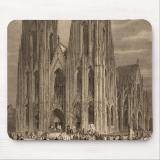 Cologne Cathedral Spire Engraving Historic Ancient Mouse Pad