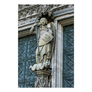 Cologne Cathedral Statue Poster