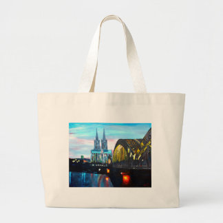 Cologne Cathedral with Hohenzollernbridge Canvas Bags