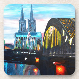 Cologne Cathedral with Hohenzollernbridge Drink Coaster