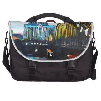 Cologne Cathedral with Hohenzollernbridge Laptop Bags