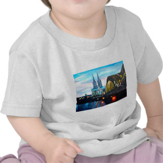 Cologne Cathedral with Hohenzollernbridge T-shirt