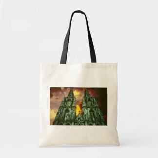 Cologne Cathedral with sun Canvas Bags