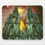 Cologne Cathedral with sun Mouse Pad