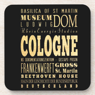Cologne City of Germany Typography City Art Drink Coaster