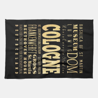 Cologne City of Germany Typography City Art Kitchen Towels