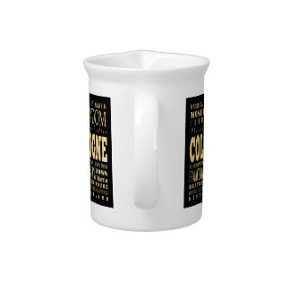 Cologne City of Germany Typography City Art Beverage Pitcher