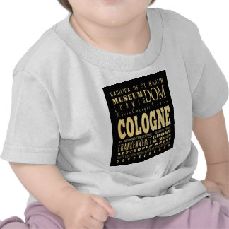 Cologne City of Germany Typography City Art Tee Shirt