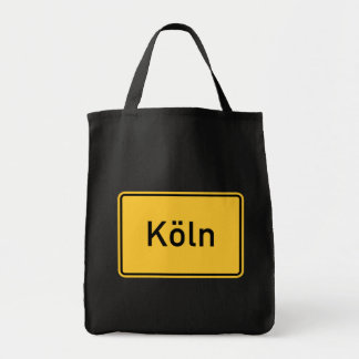 Cologne, Germany Road Sign Canvas Bag