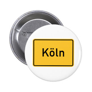Cologne, Germany Road Sign Pinback Button