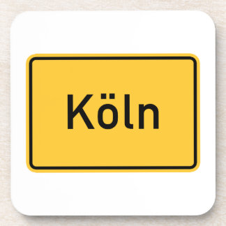 Cologne, Germany Road Sign Coasters