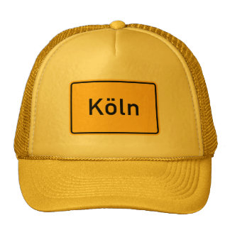 Cologne, Germany Road Sign Mesh Hat