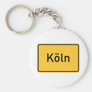 Cologne, Germany Road Sign Keychains