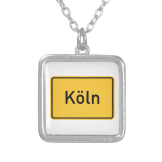 Cologne, Germany Road Sign Custom Necklace