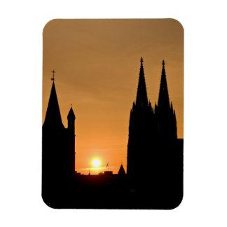 Cologne, Germany sunrise Rectangular Photo Magnet