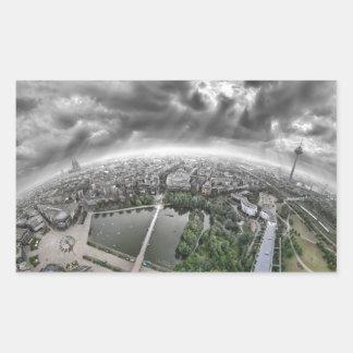 Cologne Panorama - 360 degrees! Rectangular Sticker