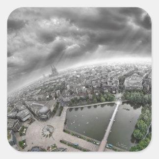 Cologne Panorama - 360 degrees! Square Sticker