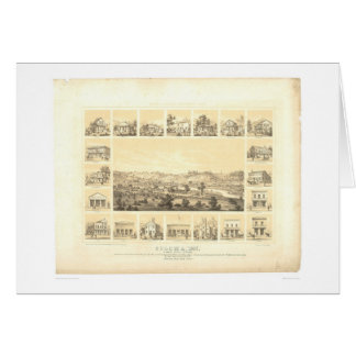 Coloma, CA. Panoramic Map 1857 (0423A) Cards