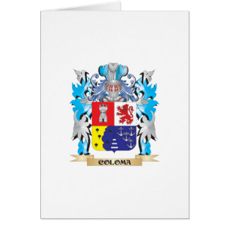 Coloma Coat of Arms - Family Crest Card