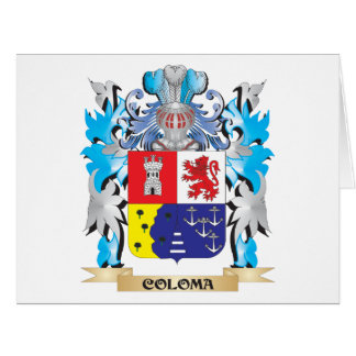 Coloma Coat of Arms - Family Crest Cards