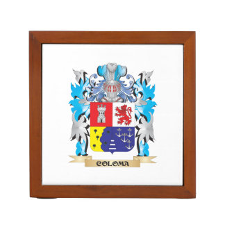 Coloma Coat of Arms - Family Crest Desk Organizers