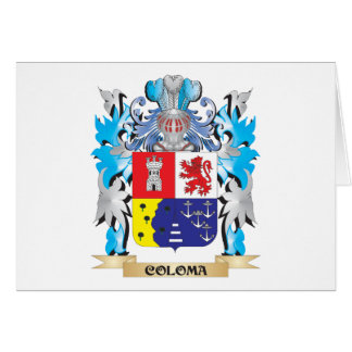 Coloma Coat of Arms - Family Crest Greeting Card
