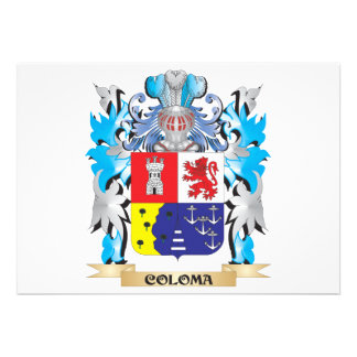 Coloma Coat of Arms - Family Crest Invite