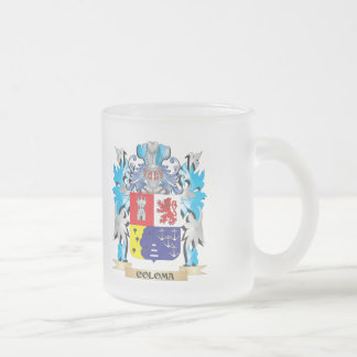 Coloma Coat of Arms - Family Crest 10 Oz Frosted Glass Coffee Mug