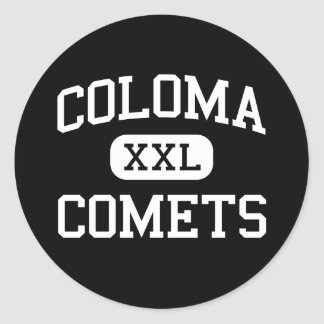 Coloma - Comets - Senior - Coloma Michigan Round Stickers