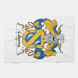 Coloma Family Crest Hand Towel